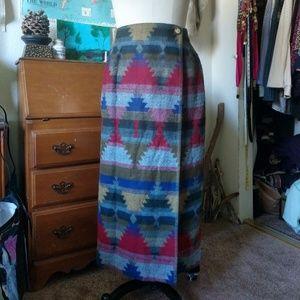 Aztec Style Maxi Skirt by Anthony Mark Hankins